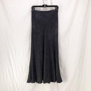 CP SHADES Gray Rayon Chenille Bias Cut Maxi Skirt